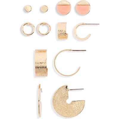 Bp. Set Of 6 Stud & Hoop Earrings