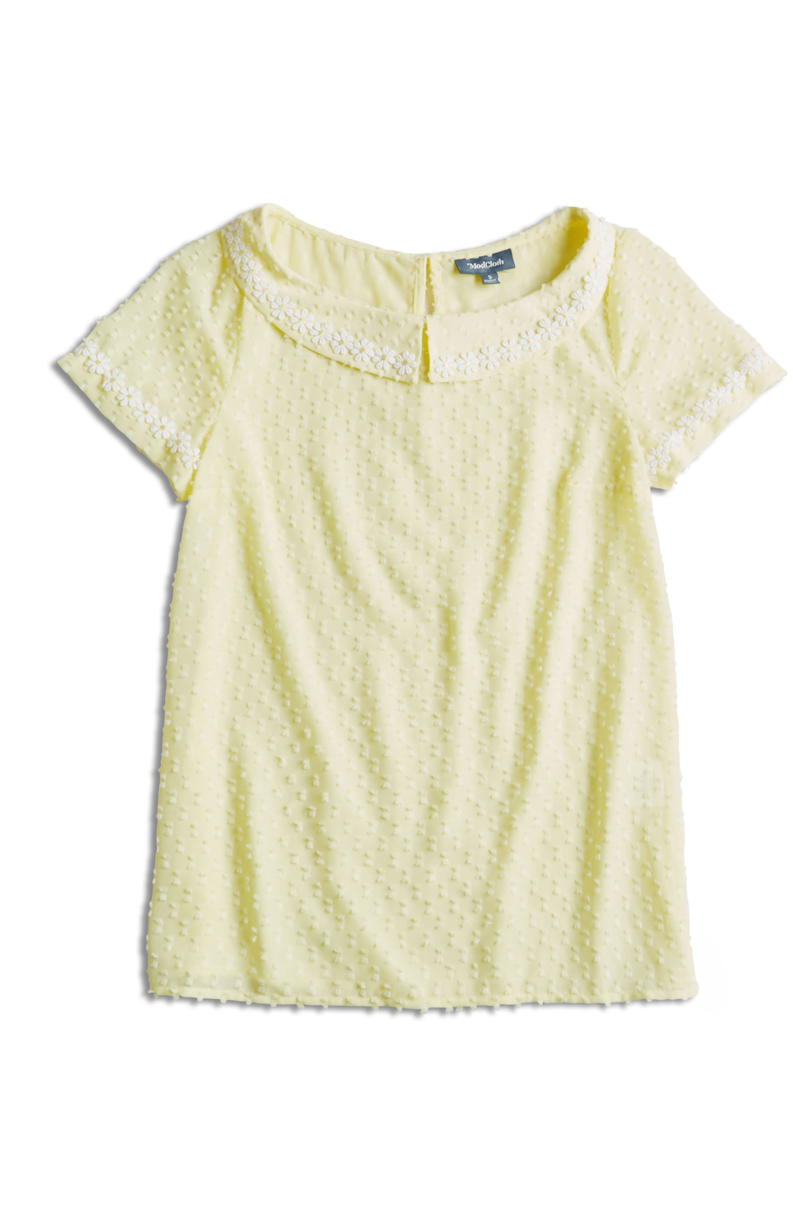 ,                             Daisy Trim Blouse,                             Alternate thumbnail 5, color,                             YELLOW