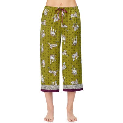Room Service Crop Pajama Pants, Green (Nordstrom Exclusive)