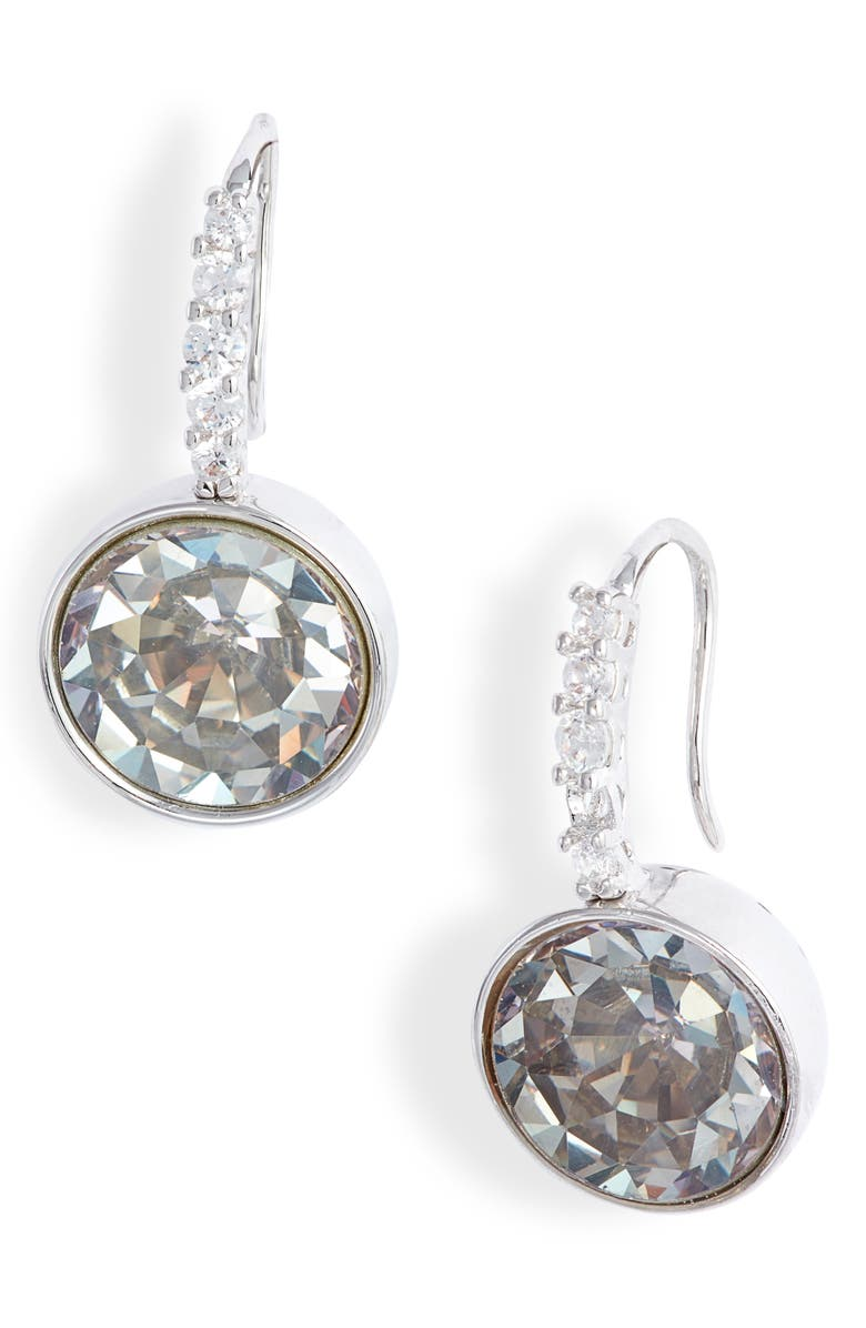 KATE SPADE NEW YORK reflecting pool pavé drop earrings, Main, color, 040