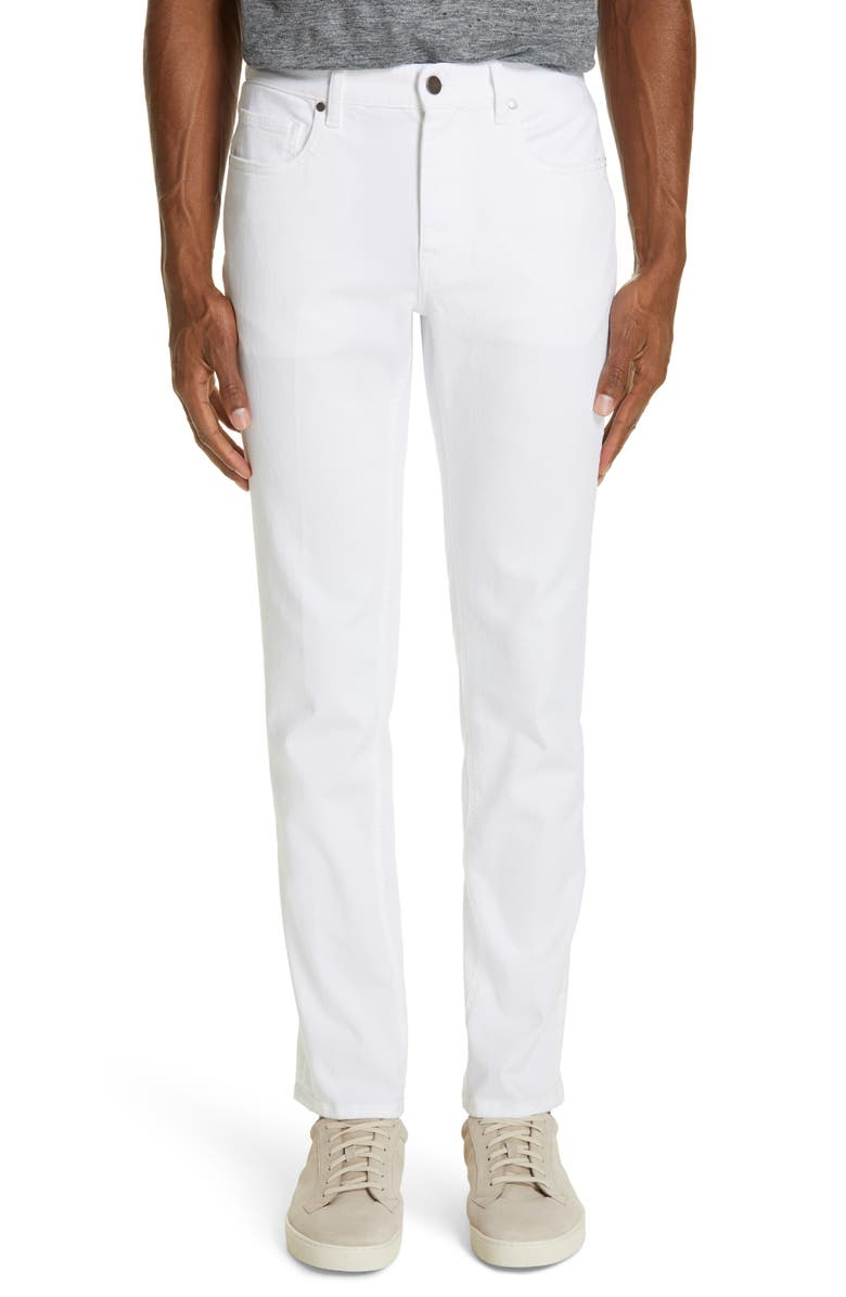 Z ZEGNA Slim Fit Stretch Five Pocket Trousers, Main, color, 100