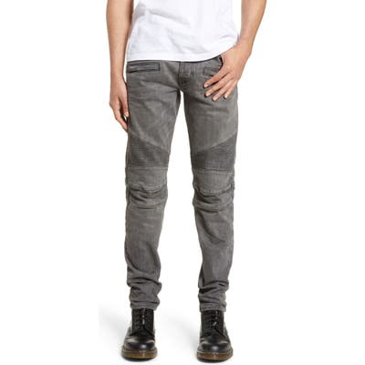 Hudson Jeans Blinder Biker Skinny Fit Moto Jeans, Grey