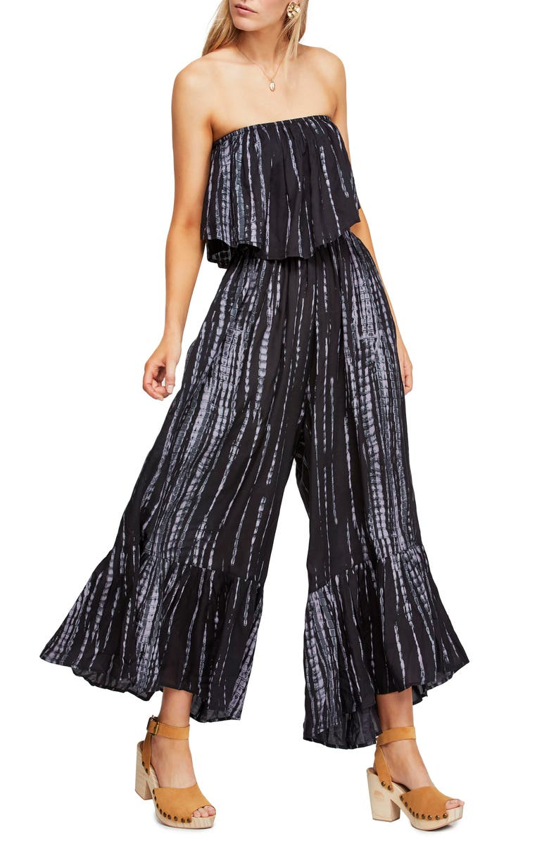 FREE PEOPLE Summer Vibes Strapless Jumpsuit, Main, color, 001