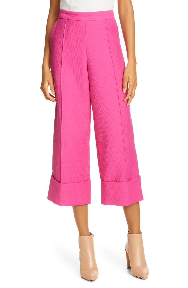 RACHEL COMEY Rotation Cuff Crop Pants, Main, color, FUCHSIA