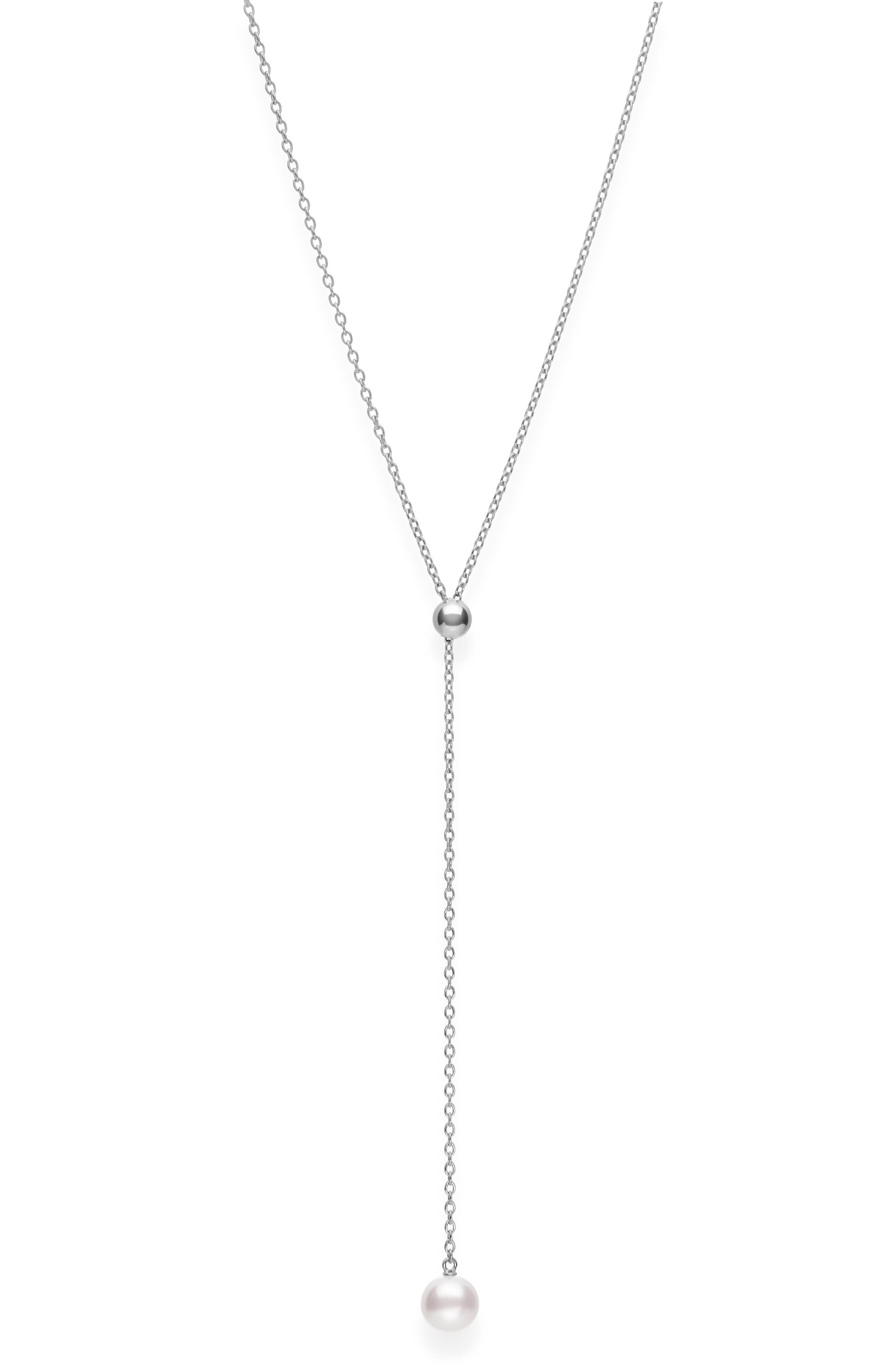 Japan Collections Pearl Lariat Necklace