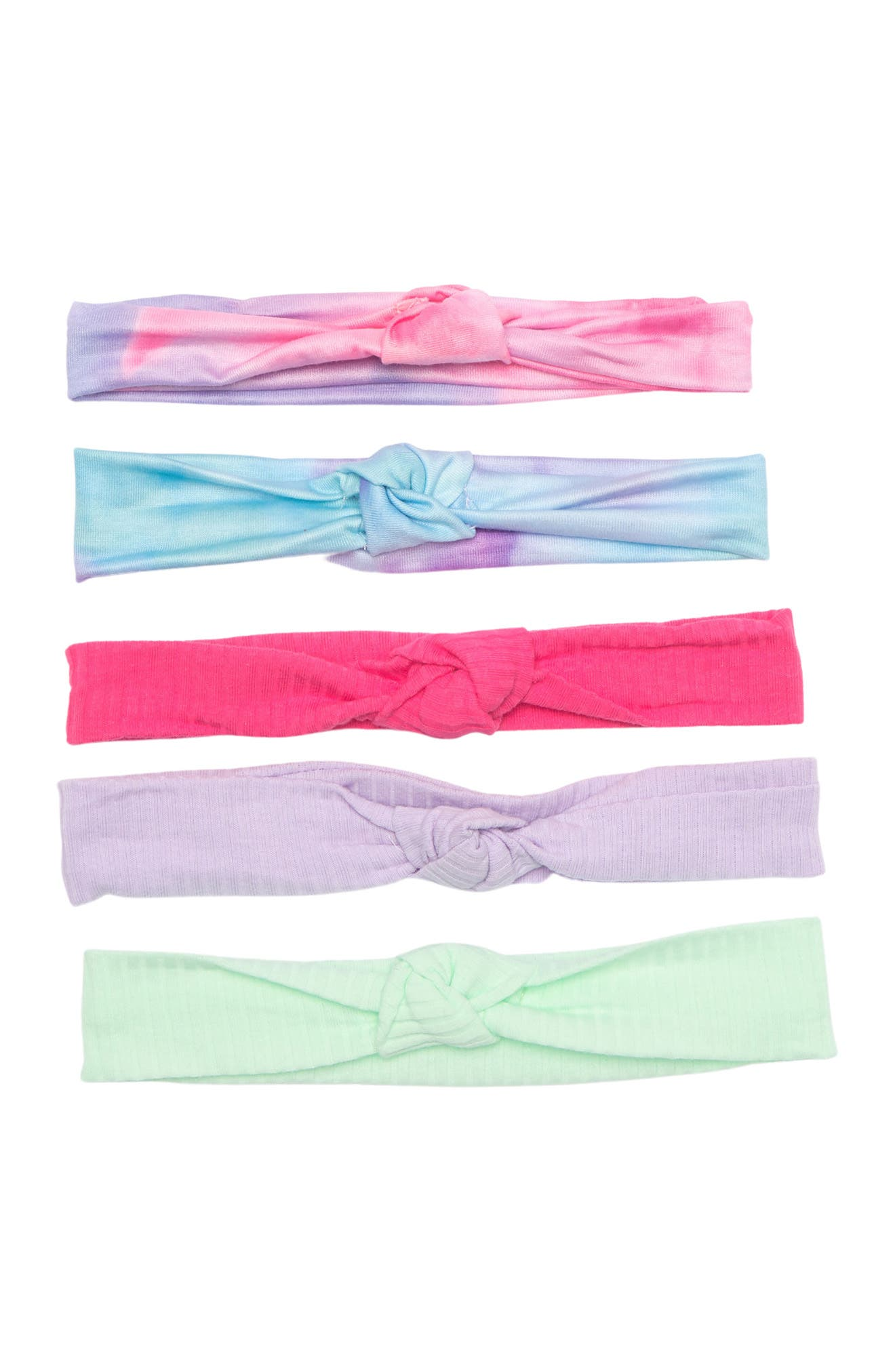 Image of CAPELLI OF NEW YORK Knotted Headwraps - Set of 5