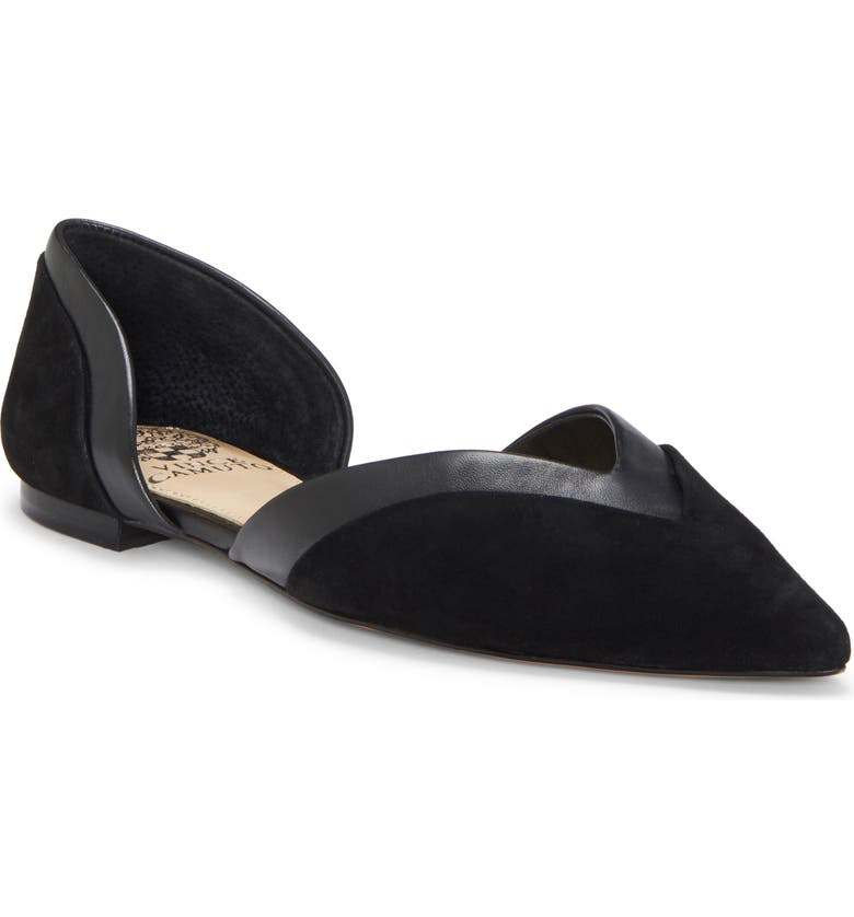 VINCE CAMUTO Caivan d'Orsay Flat, Main, color, BLACK SUEDE