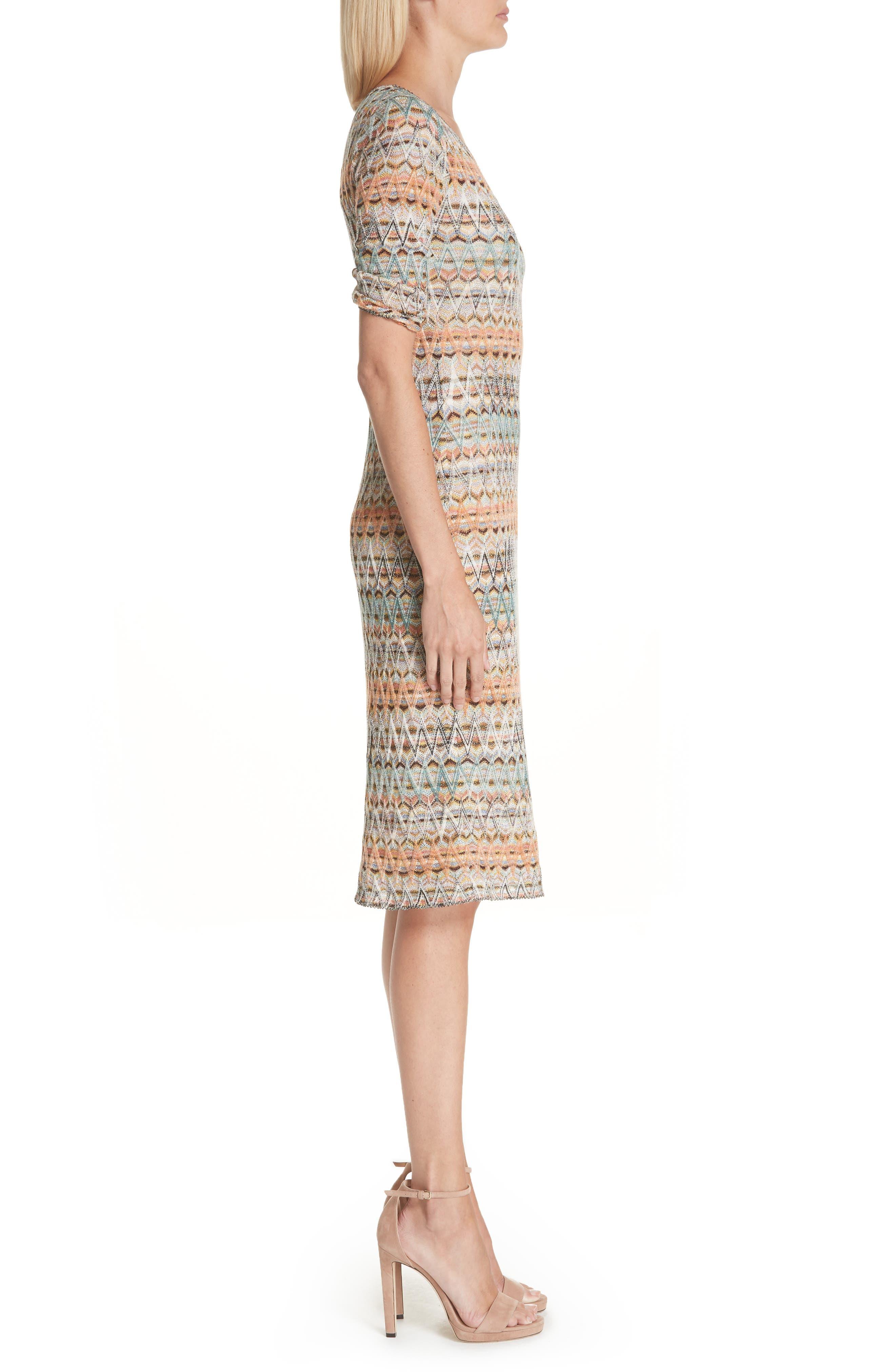 ,                             Open Knit Sweater Dress,                             Alternate thumbnail 3, color,                             MULTI