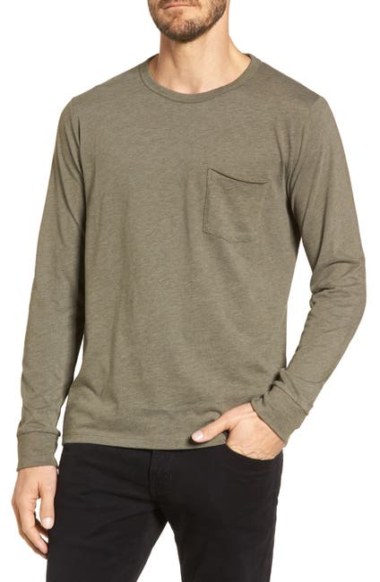 Image of JASON SCOTT Yale Crew Neck Long Sleeve Tee