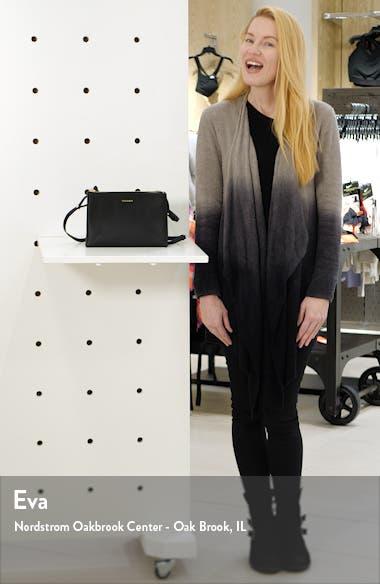 Daniibar Double Zip Leather Crossbody Bag, sales video thumbnail