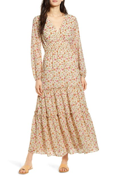 Lost + Wander LOVE IN BLOOM LONG SLEEVE FLORAL MAXI DRESS