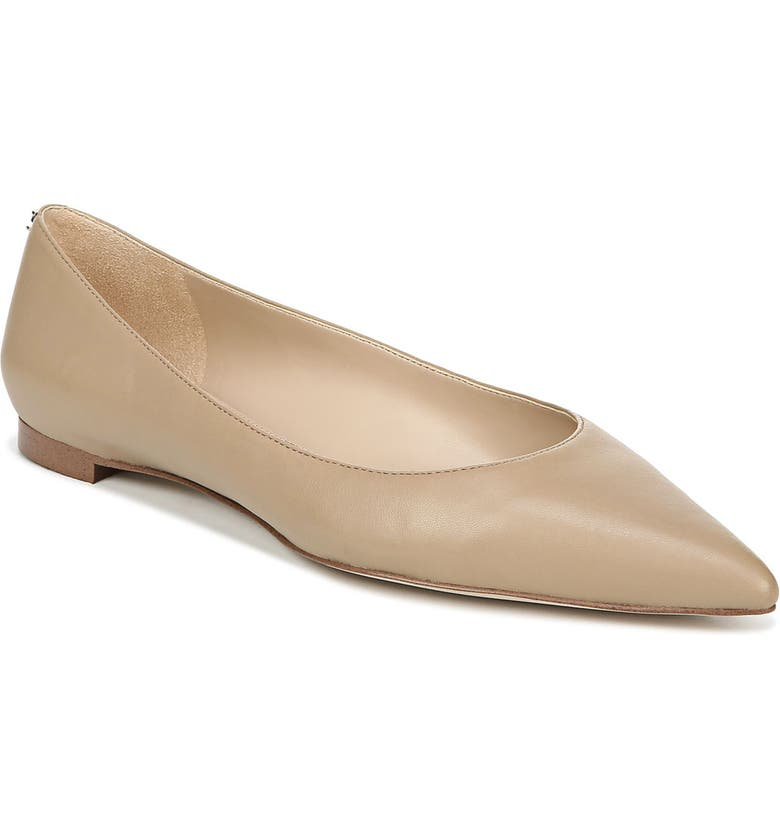 SAM EDELMAN Sally Flat, Main, color, CLASSIC NUDE NAPPA LEATHER