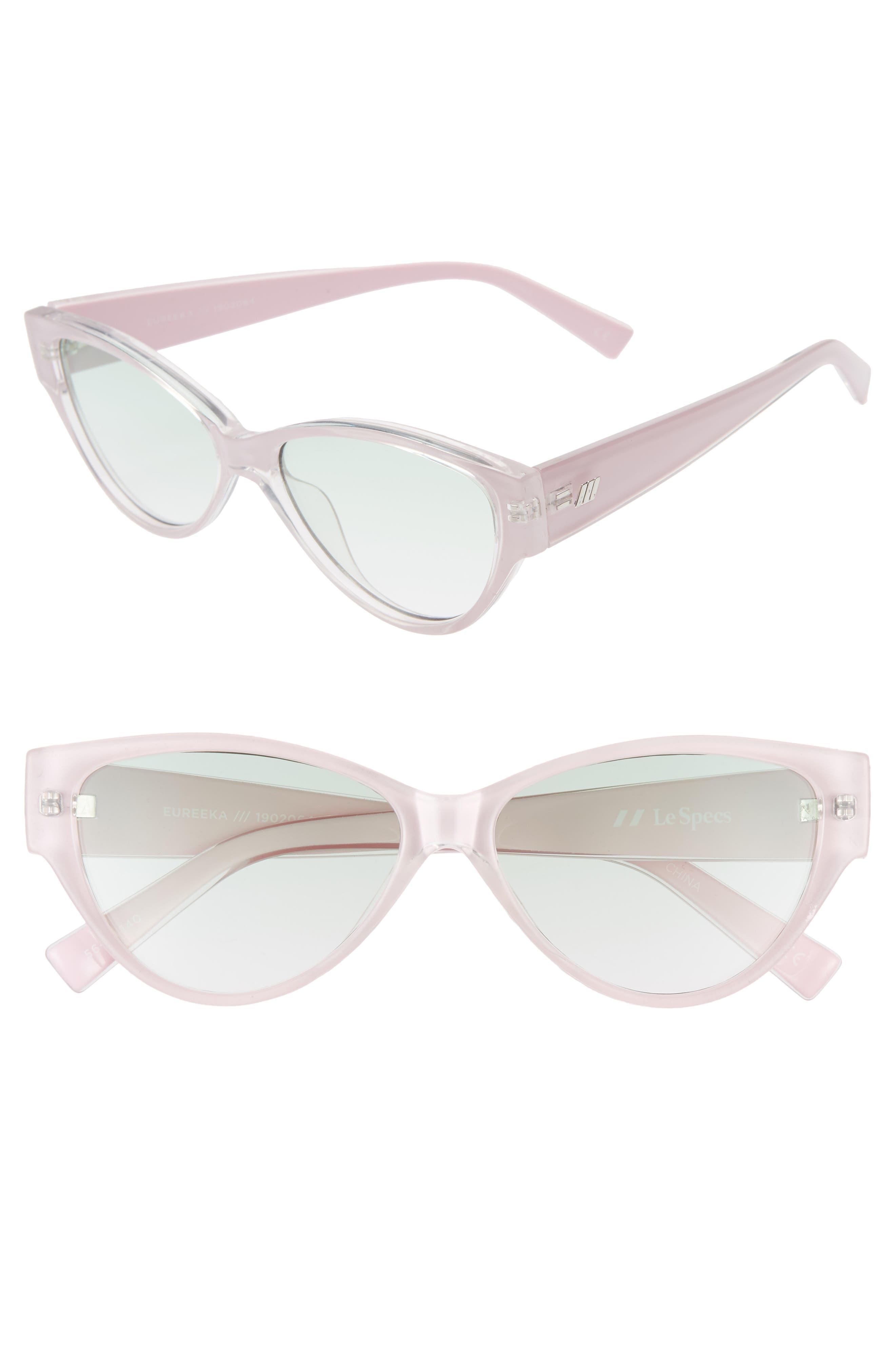 Le Specs Eureka 5m Cat Eye Sunglasses - Apple Blossom/ Jade Gradient