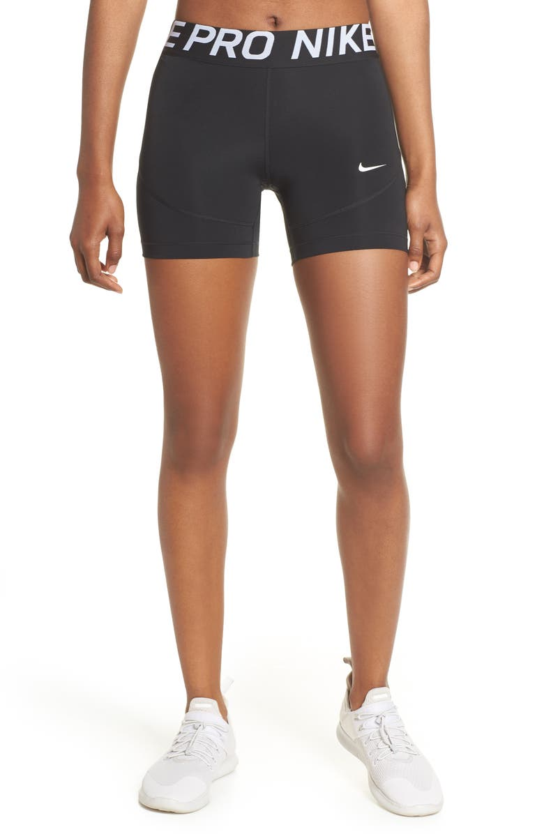 NIKE Pro Performance Shorts, Main, color, BLACK/ WHITE