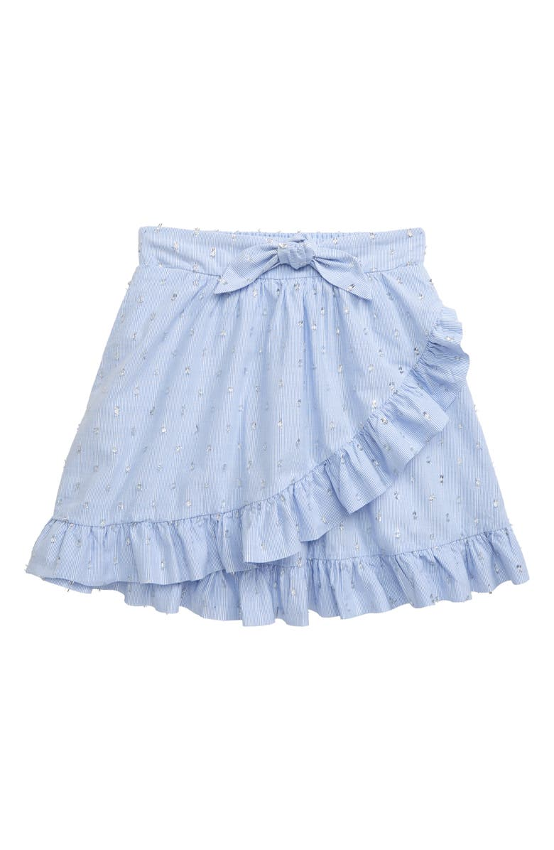 PEEK AREN'T YOU CURIOUS Stripe Ruffle Skirt, Main, color, CHAMBRAY