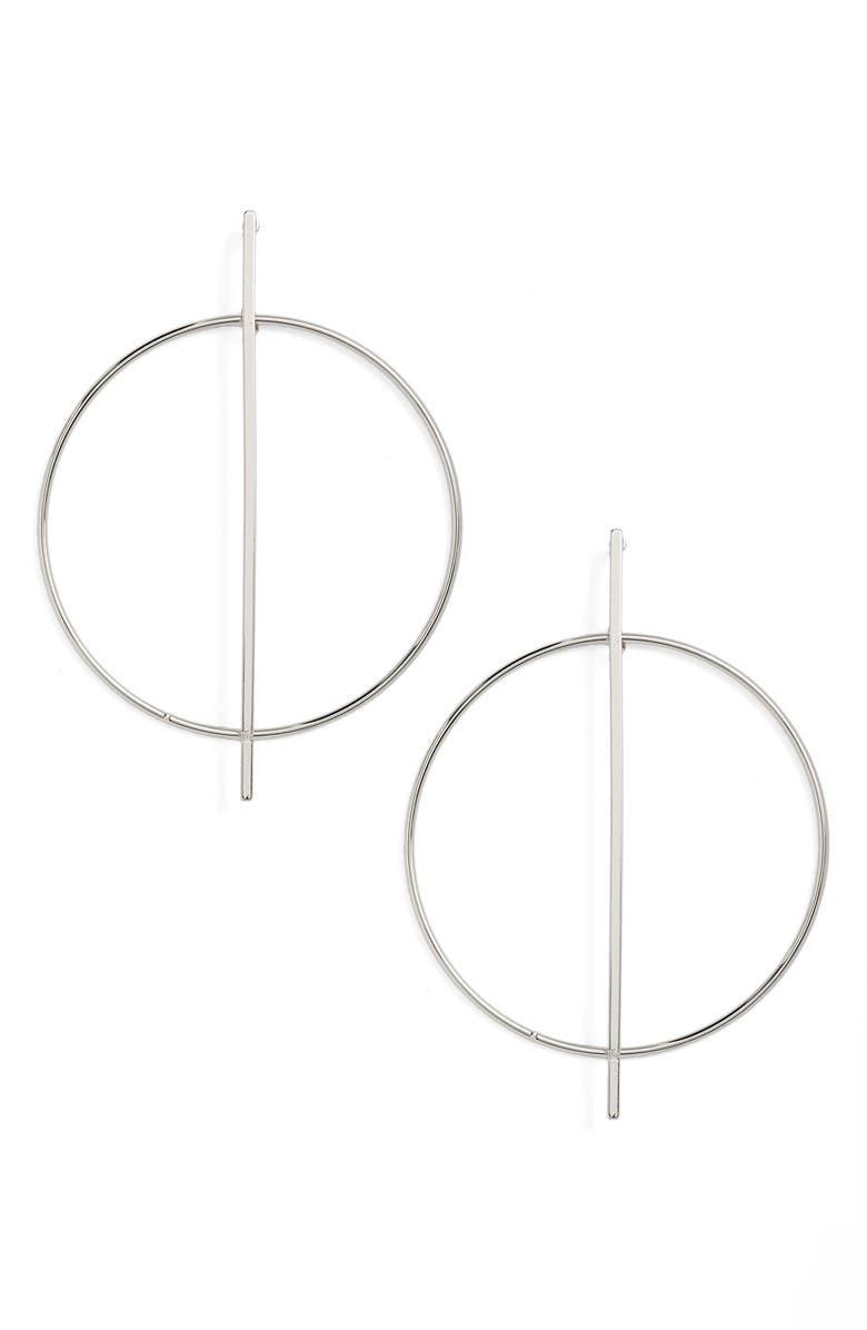 NORDSTROM Open Circle Frontal Hoop Earrings, Main, color, 040