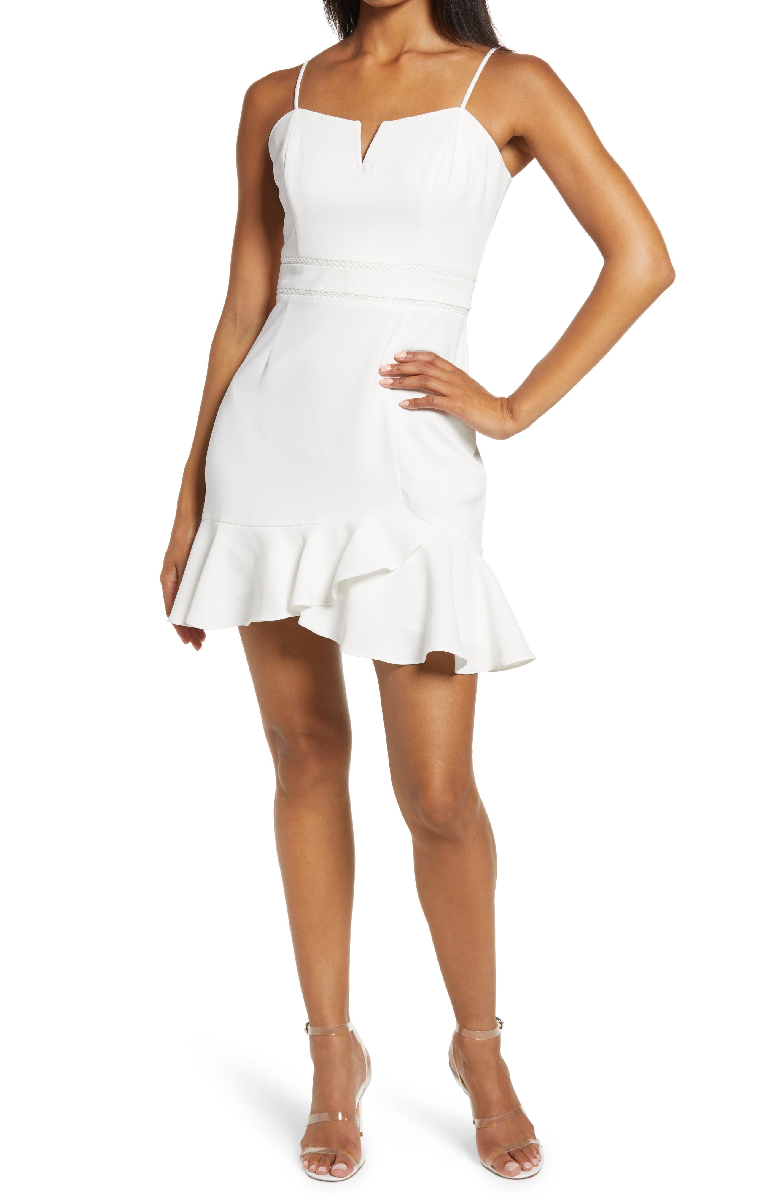 Charli Ruffle Hem Minidress