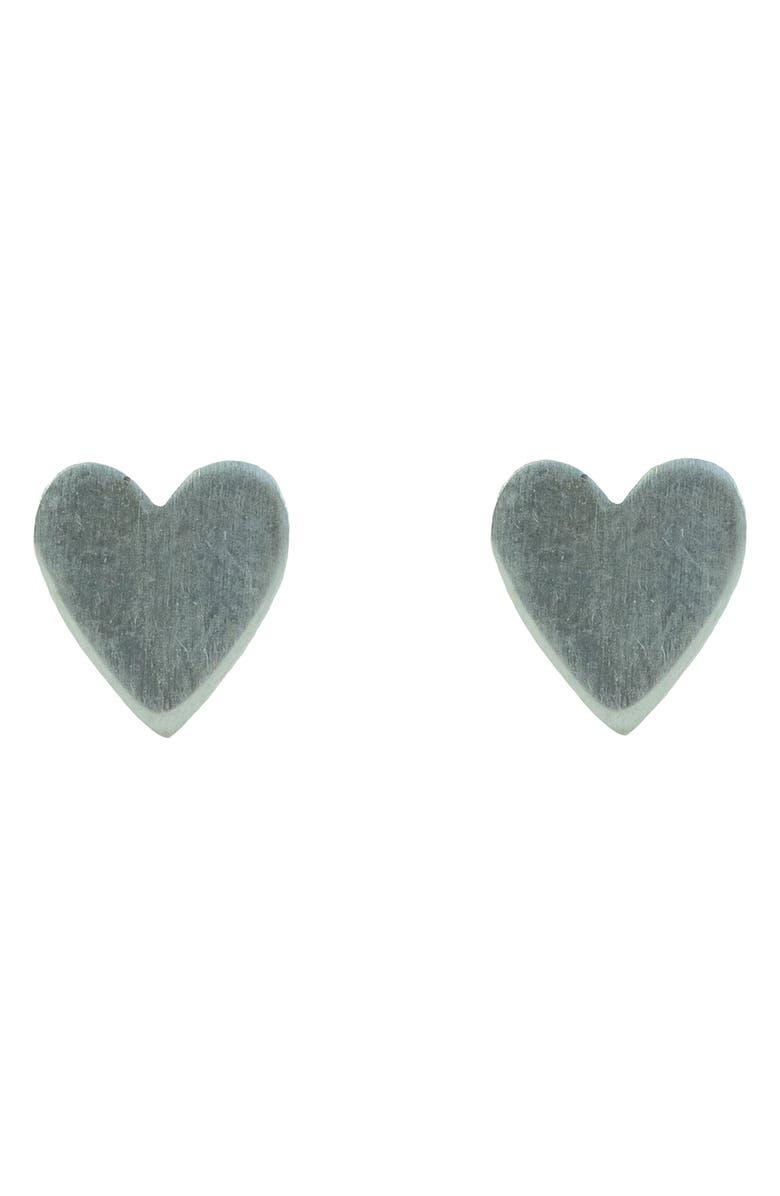 NASHELLE Little Heart Stud Earrings, Main, color, SILVER