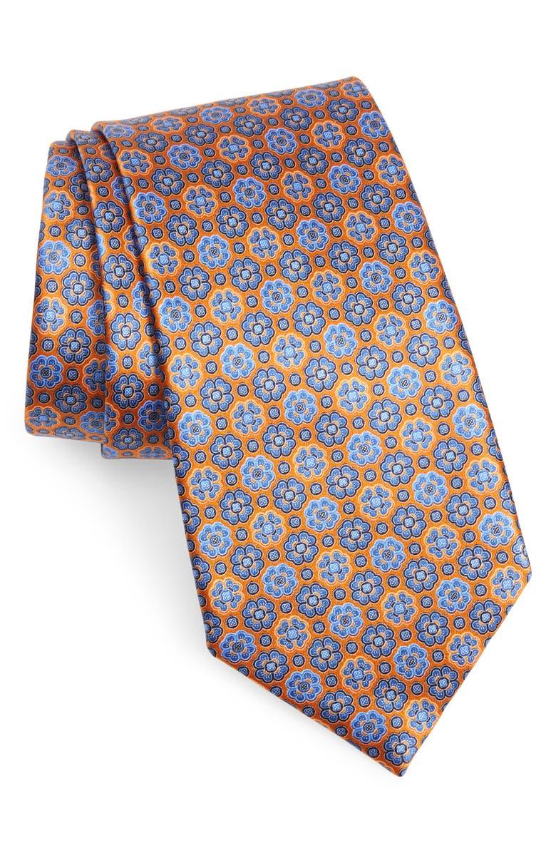 Ermenegildo Zegna Micro Floral Silk Tie