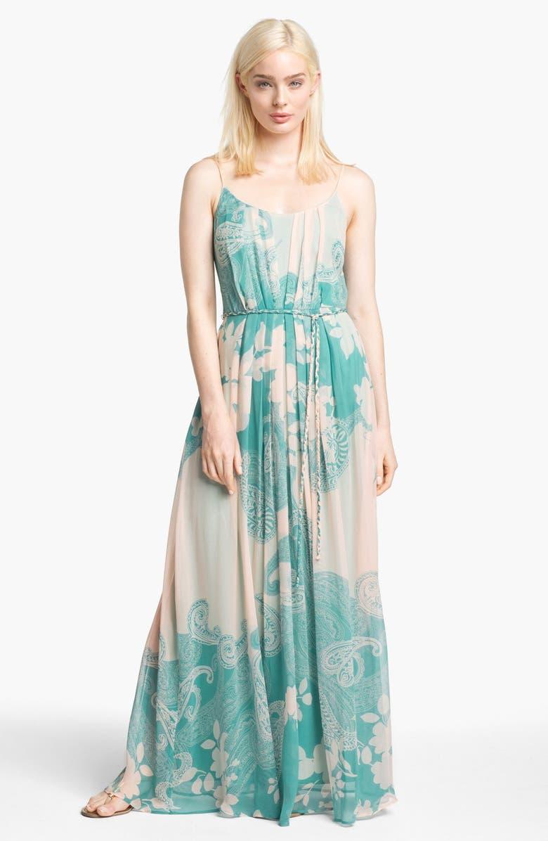 90b7a78f6f60e Print Silk Chiffon Maxi Dress