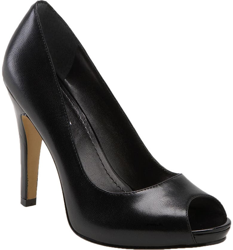 NINE WEST Peep Toe Pump, Main, color, 002