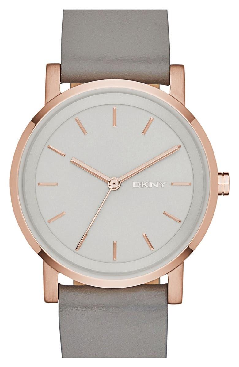 DKNY 'Soho' Round Watch, 34mm, Main, color, 020