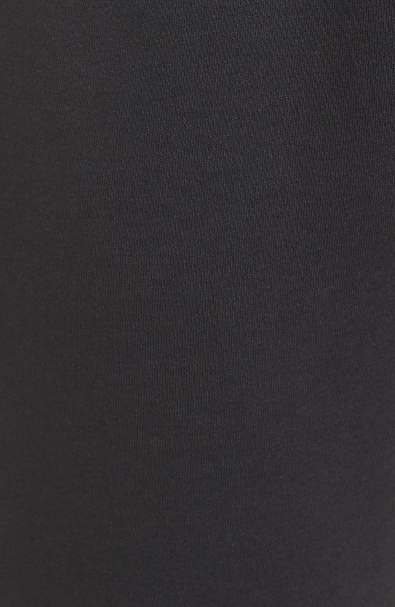 ,                             Sportswear Air Fleece Jogger Pants,                             Alternate thumbnail 8, color,                             BLACK/ WHITE