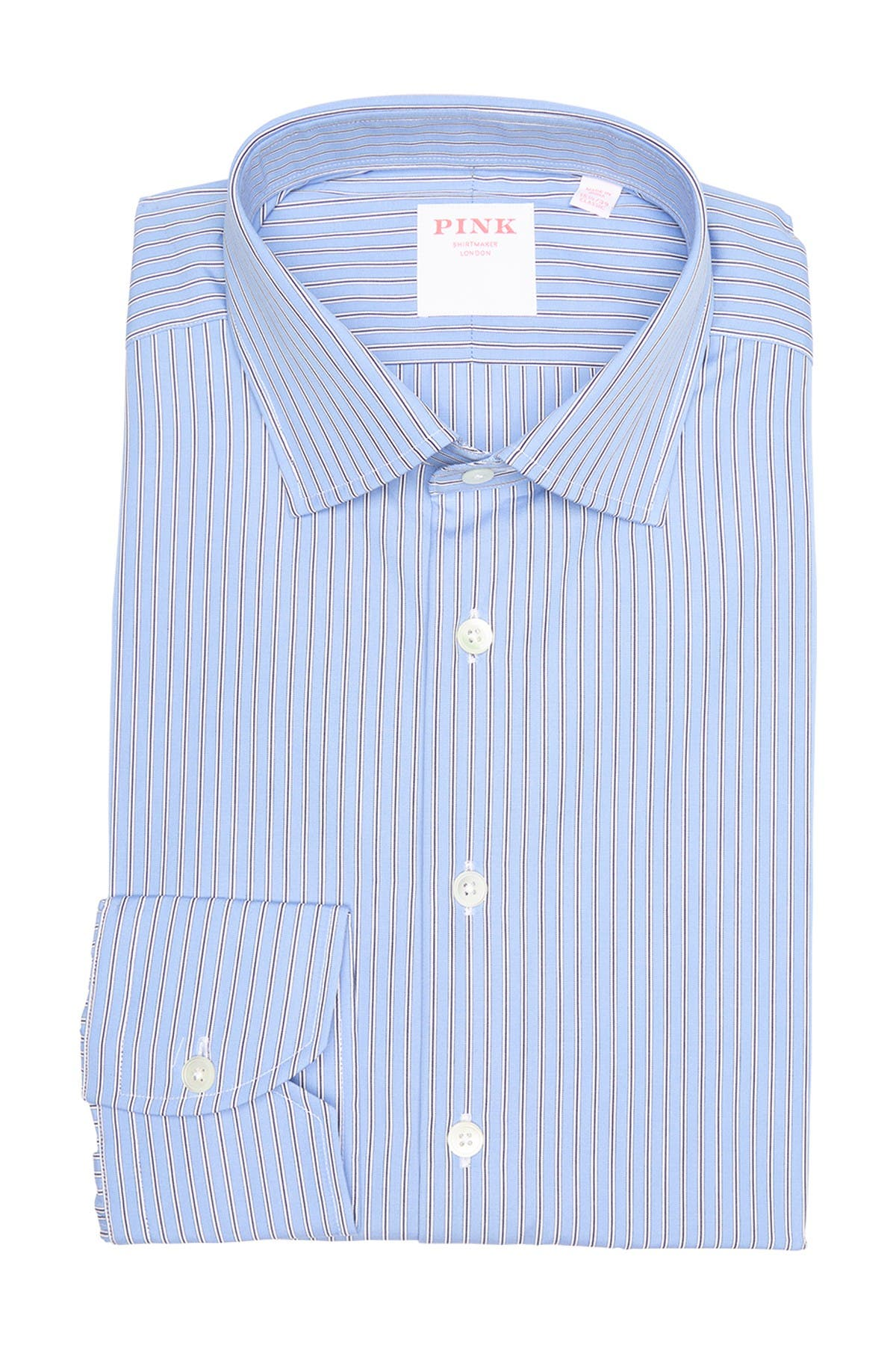 Image of THOMAS PINK Double Stripe Classic Fit Dress Shirt