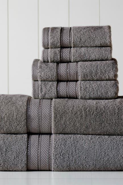 Image of Modern Threads SpunLoft 6-Piece Towel Set - Charcoal
