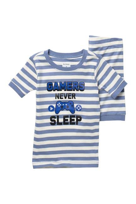 Image of Petit Lem Gamers Never Sleep T-Shirt & Shorts Pajama Set