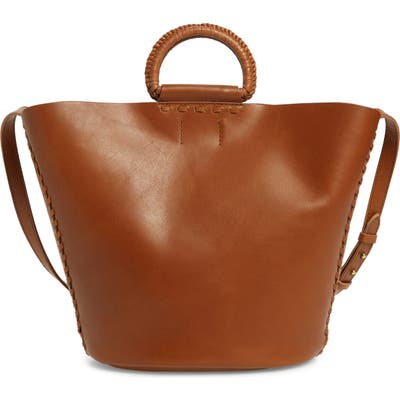 Madewell The Nashville Whipstitch Leather Tote - Brown