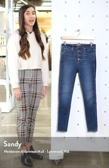 High Rise Button Front Skinny Jeans, sales video thumbnail