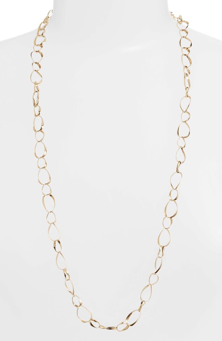 BONY LEVY Long 14K Gold Oval Link Necklace, Main, color, GOLD