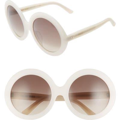 Celine 61Mm Round Sunglasses - Ivory/ Gradient Brown