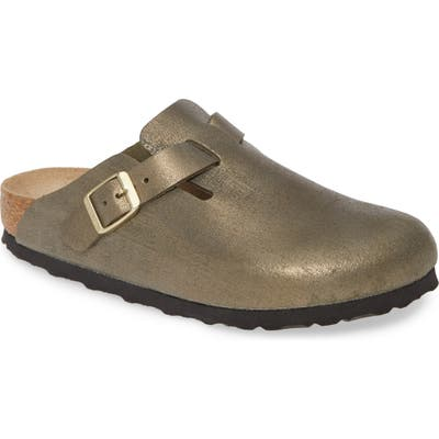 Birkenstock Boston Soft Footbed Clog, Metallic