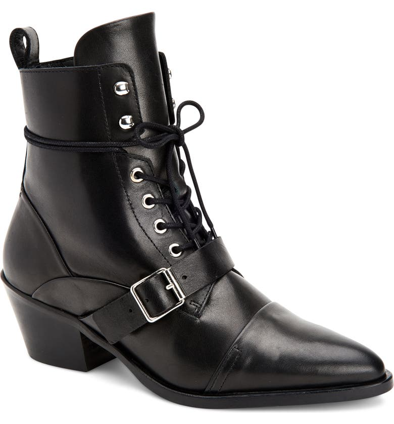 ALLSAINTS Katy Boot, Main, color, BLACK/ BLACK LEATHER