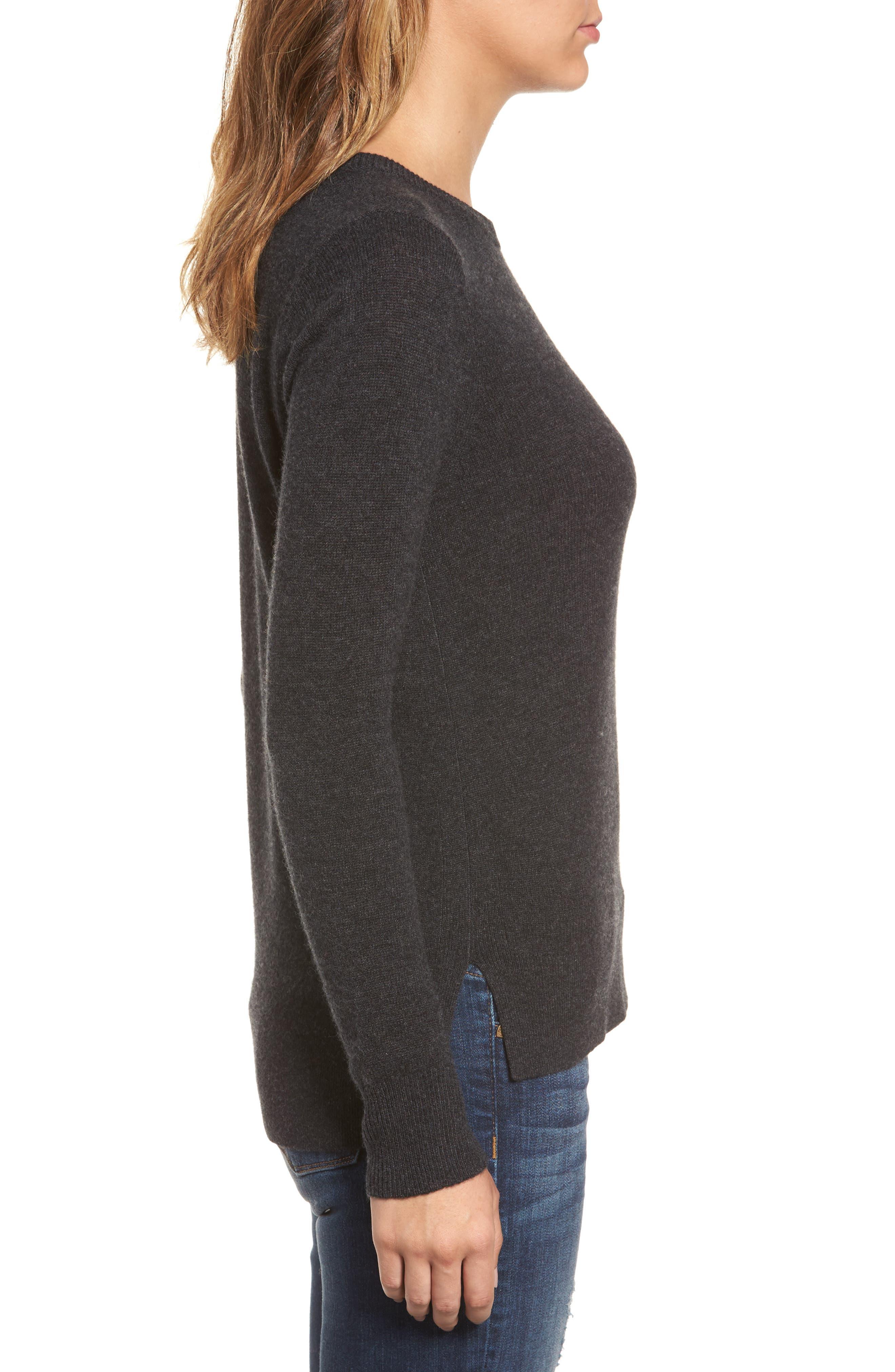 ,                             Crewneck Cashmere Sweater,                             Alternate thumbnail 253, color,                             021