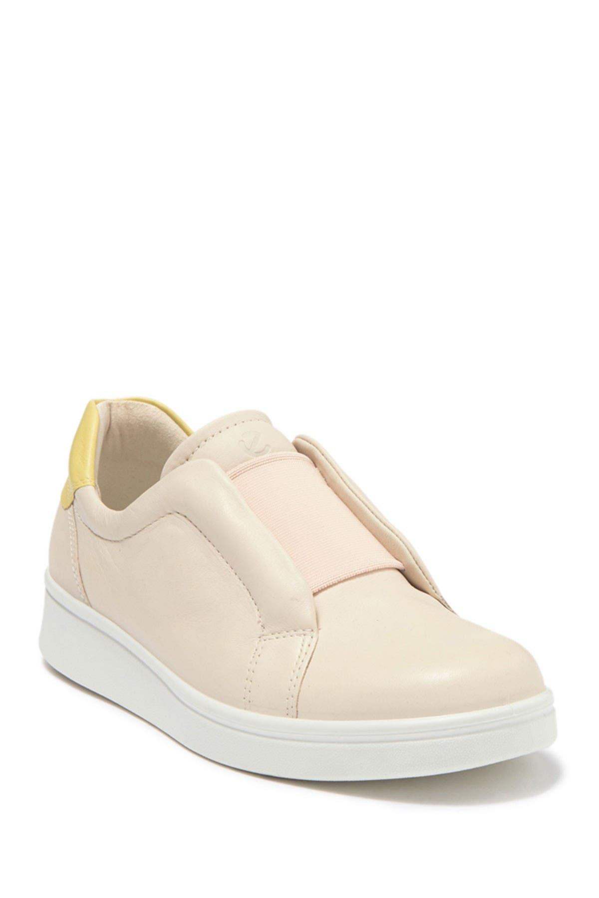 ECCO   Soft 4 Leather Slip-On Sneaker