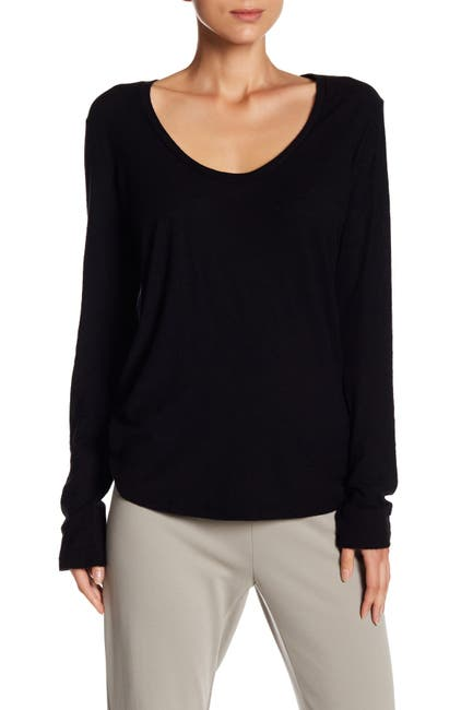 Image of James Perse Long Sleeve Scoop Neck T-Shirt