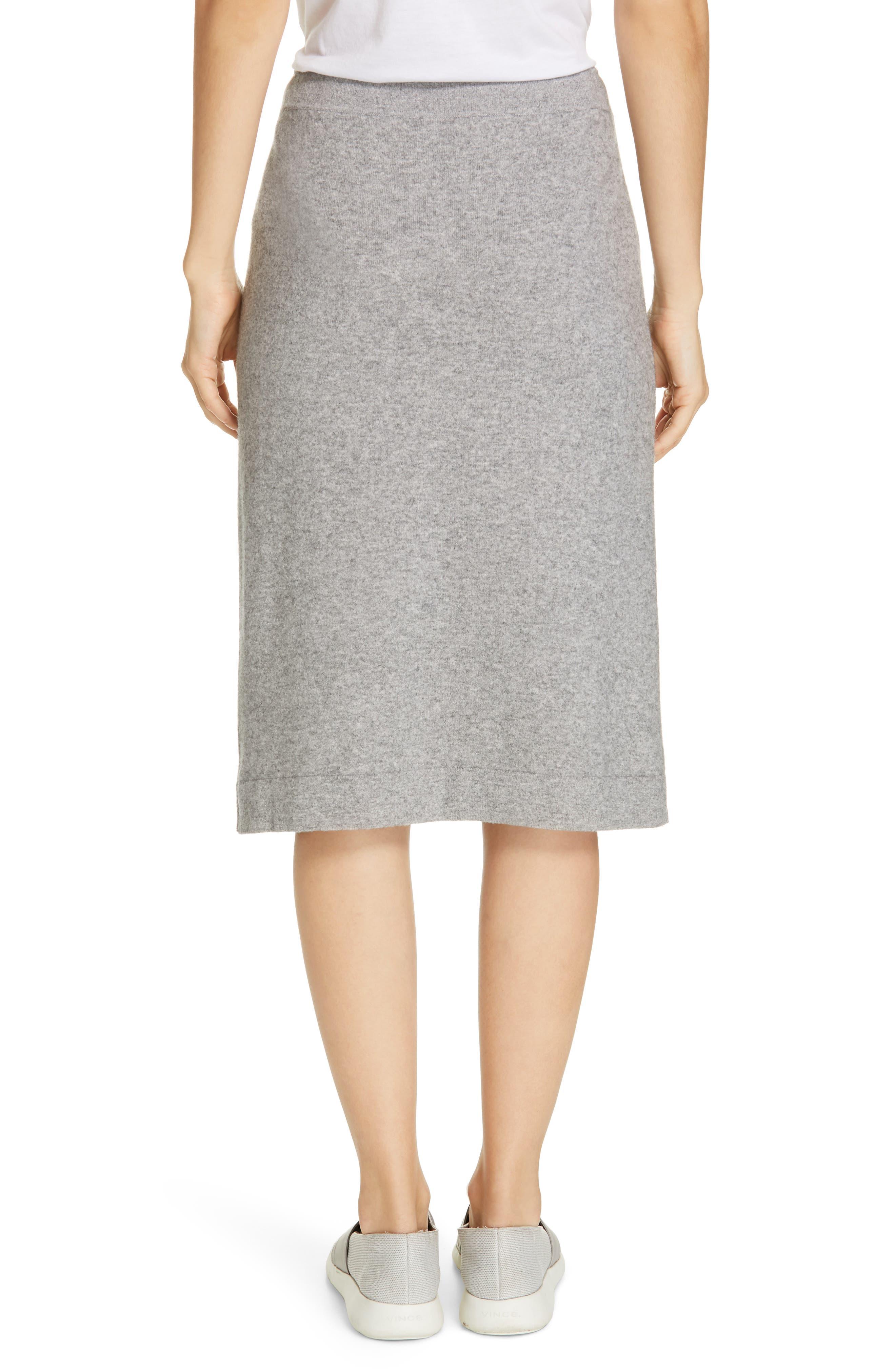 ,                             Knit Skirt,                             Alternate thumbnail 2, color,                             H STEEL