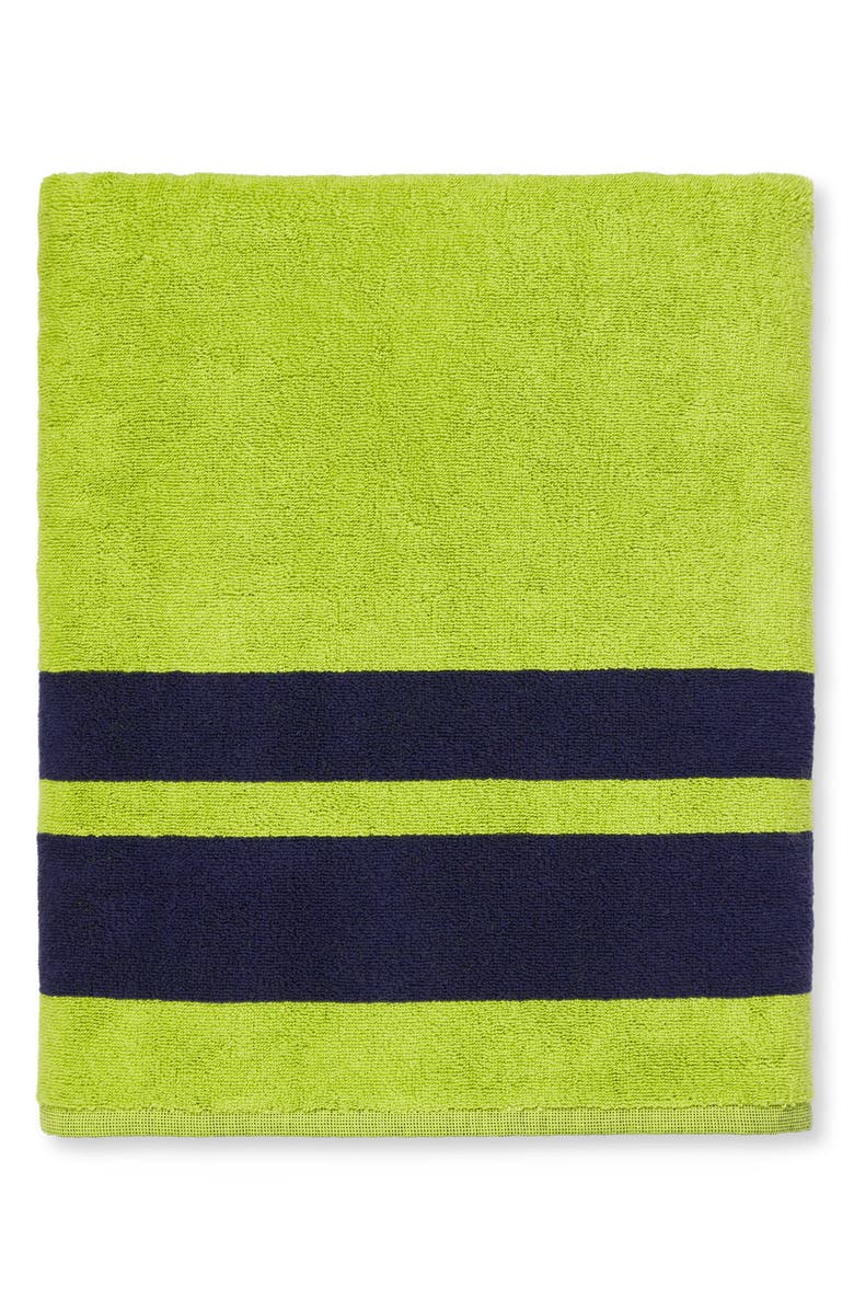 SFERRA Mareta Stripe Beach Towel, Main, color, APPLE