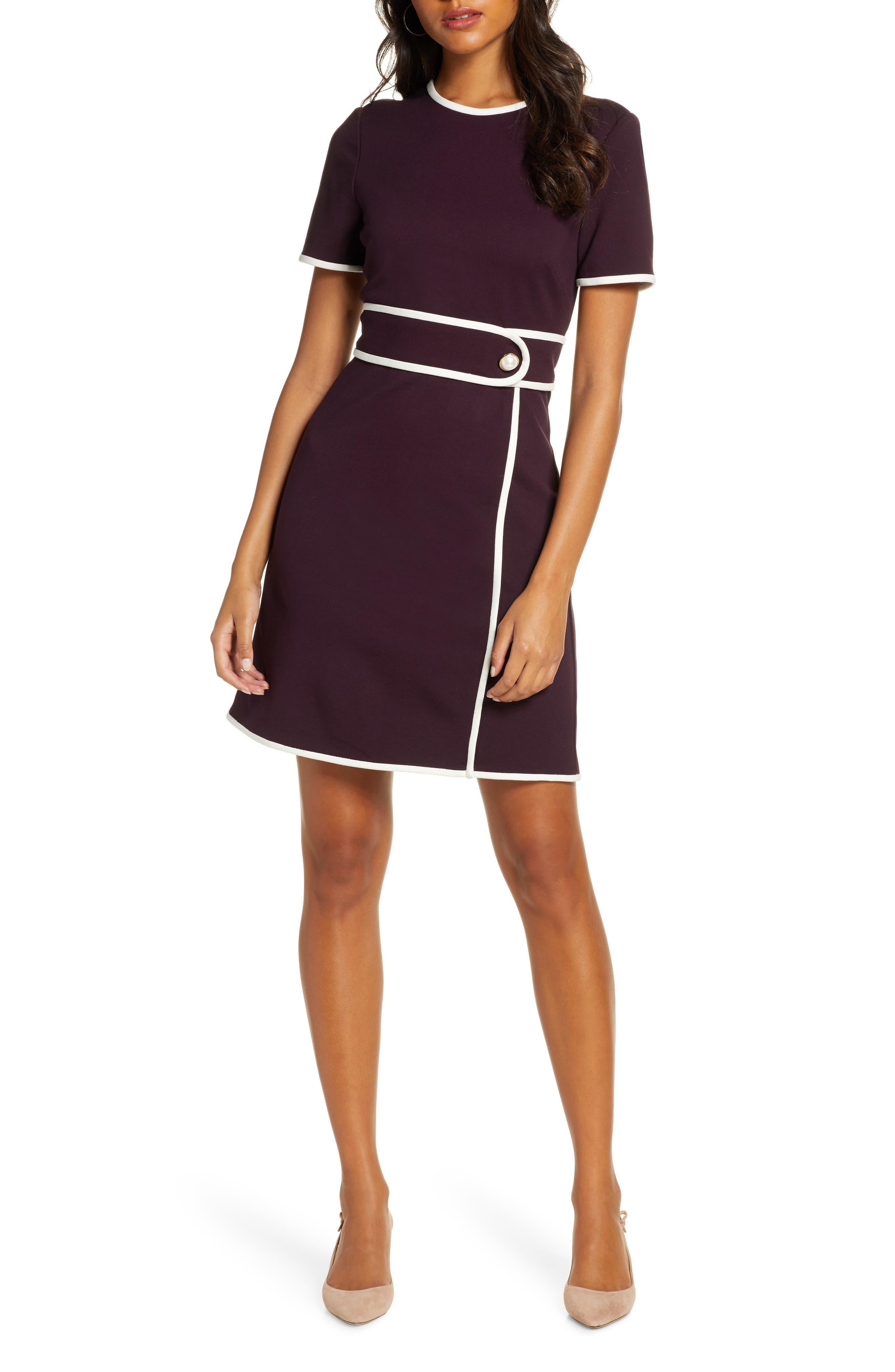 60s Dresses | 1960s Dresses Mod, Mini, Hippie Womens 1901 Belt Detail Sheath Dress $129.00 AT vintagedancer.com