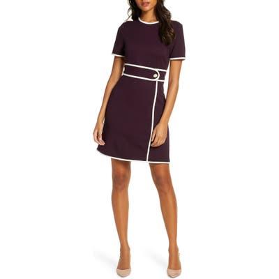 Petite 1901 Belt Detail Sheath Dress, Purple