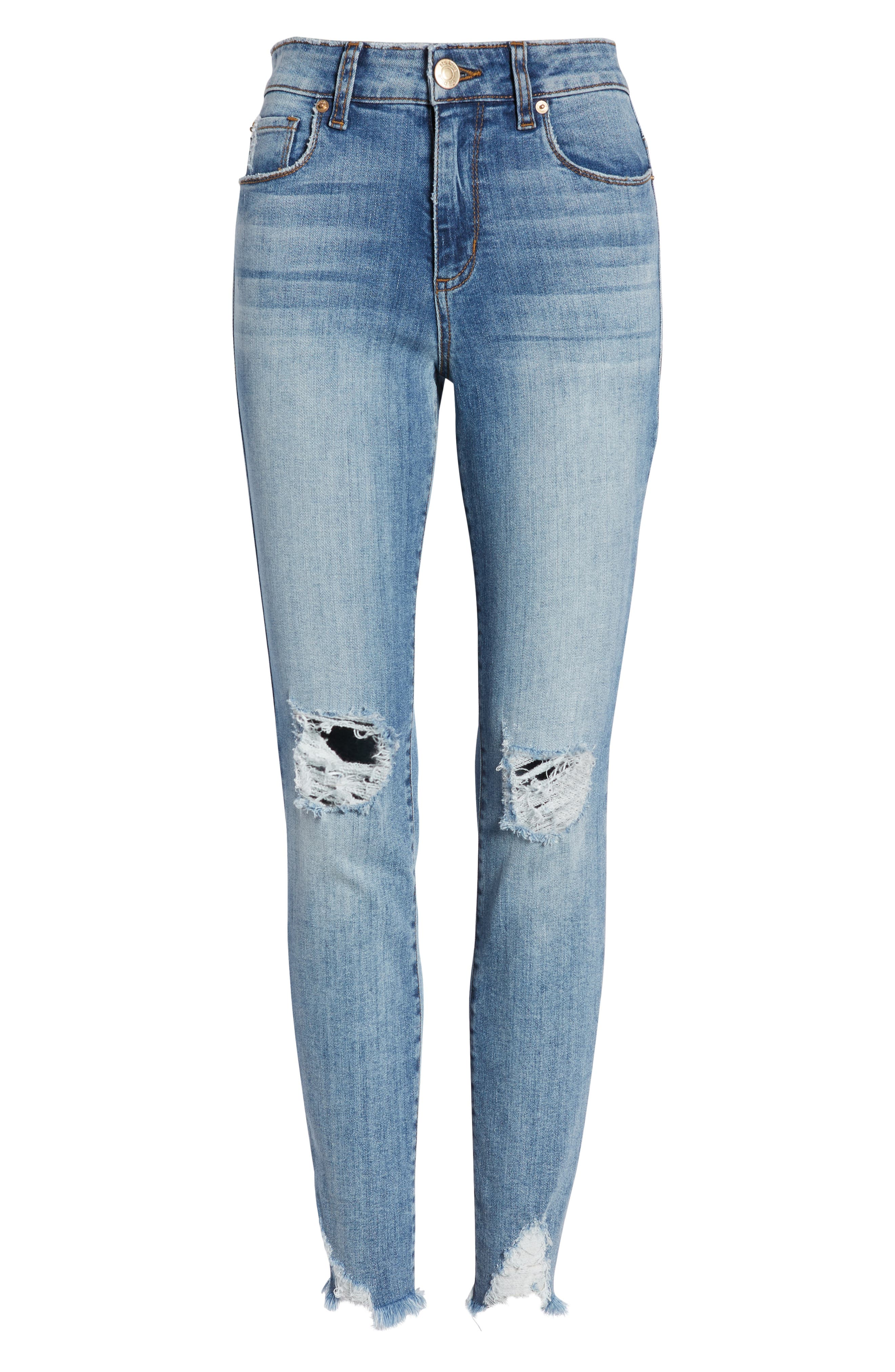 ,                             Emma Ripped High Waist Skinny Jeans,                             Alternate thumbnail 7, color,                             NORTH BROWNSTONE