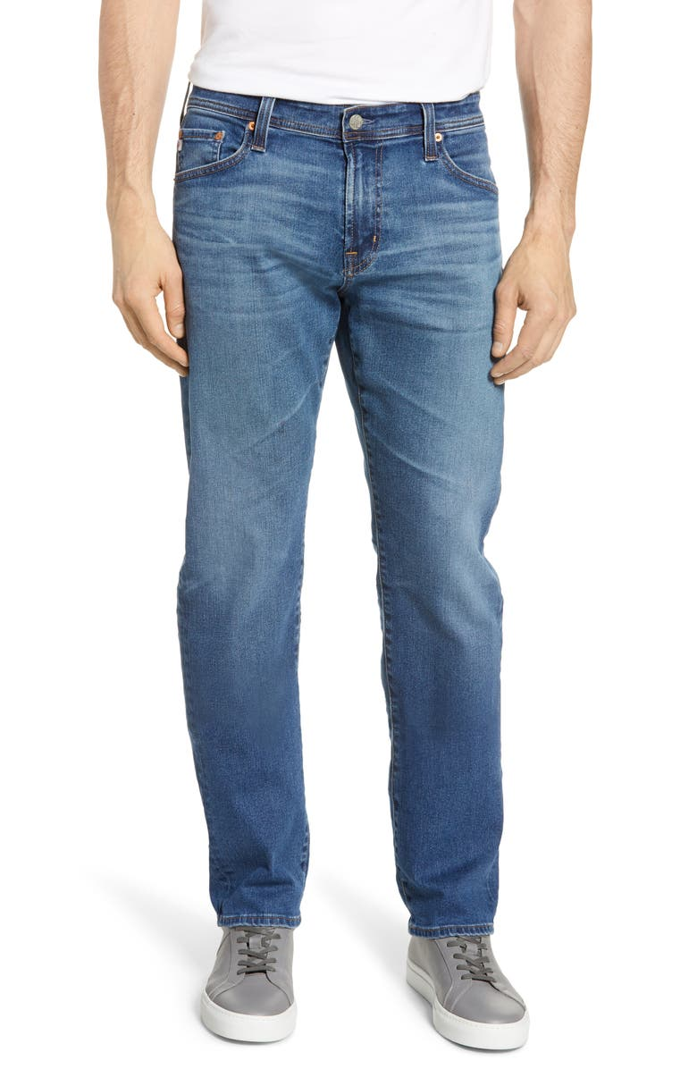 AG Graduate Slim Straight Leg Jeans, Main, color, 10 YEARS SEMPRE