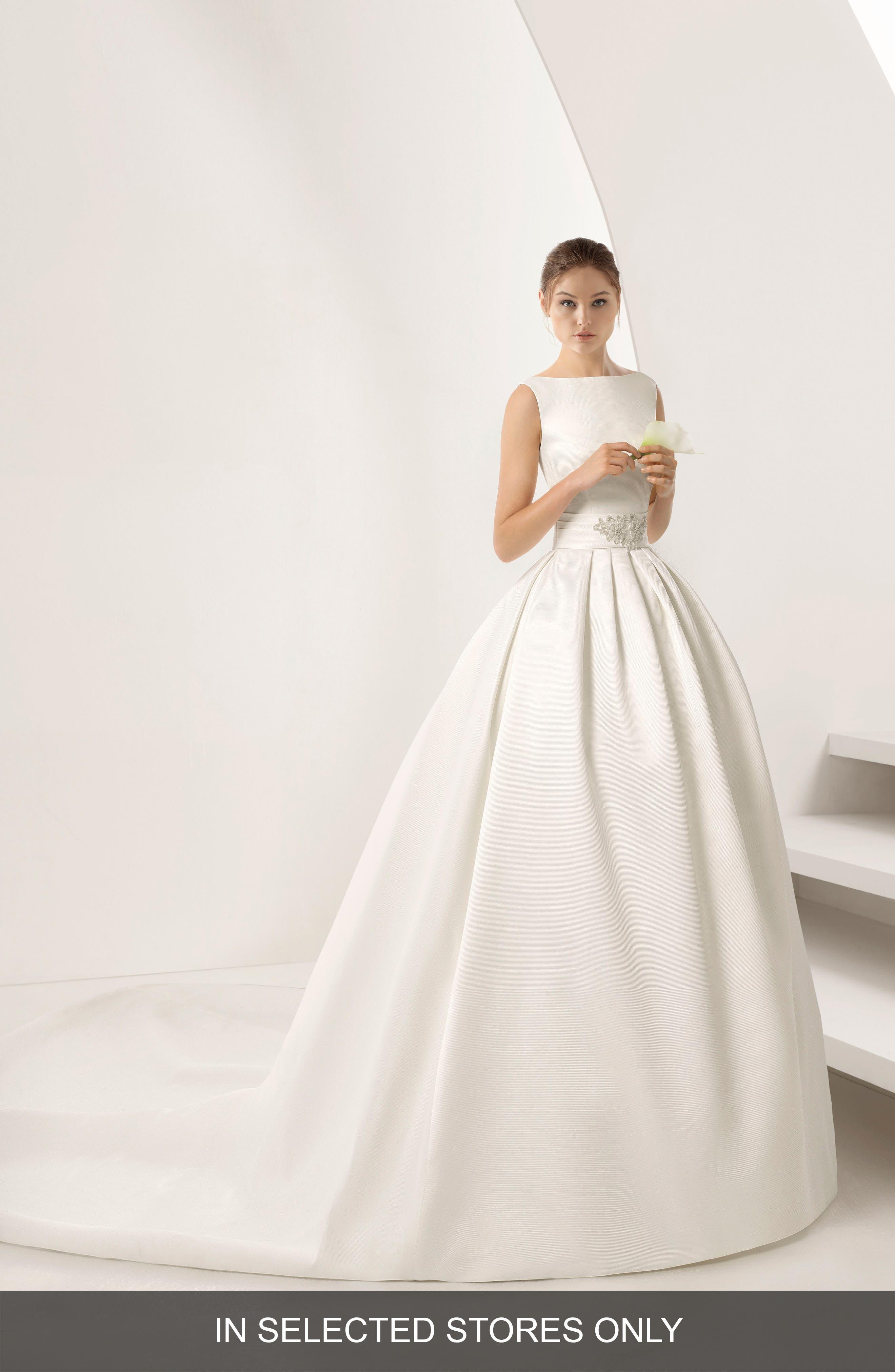 Rosa Clara Opulento Mikado Ballgown, Size - Ivory