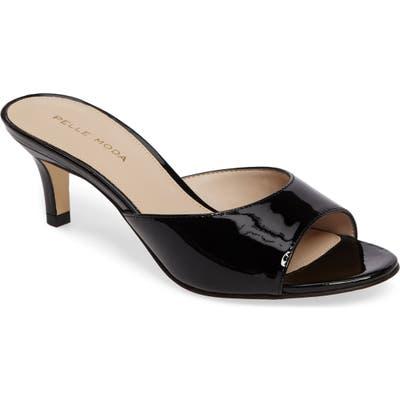 Pelle Moda Bex Kitten Heel Slide, Black