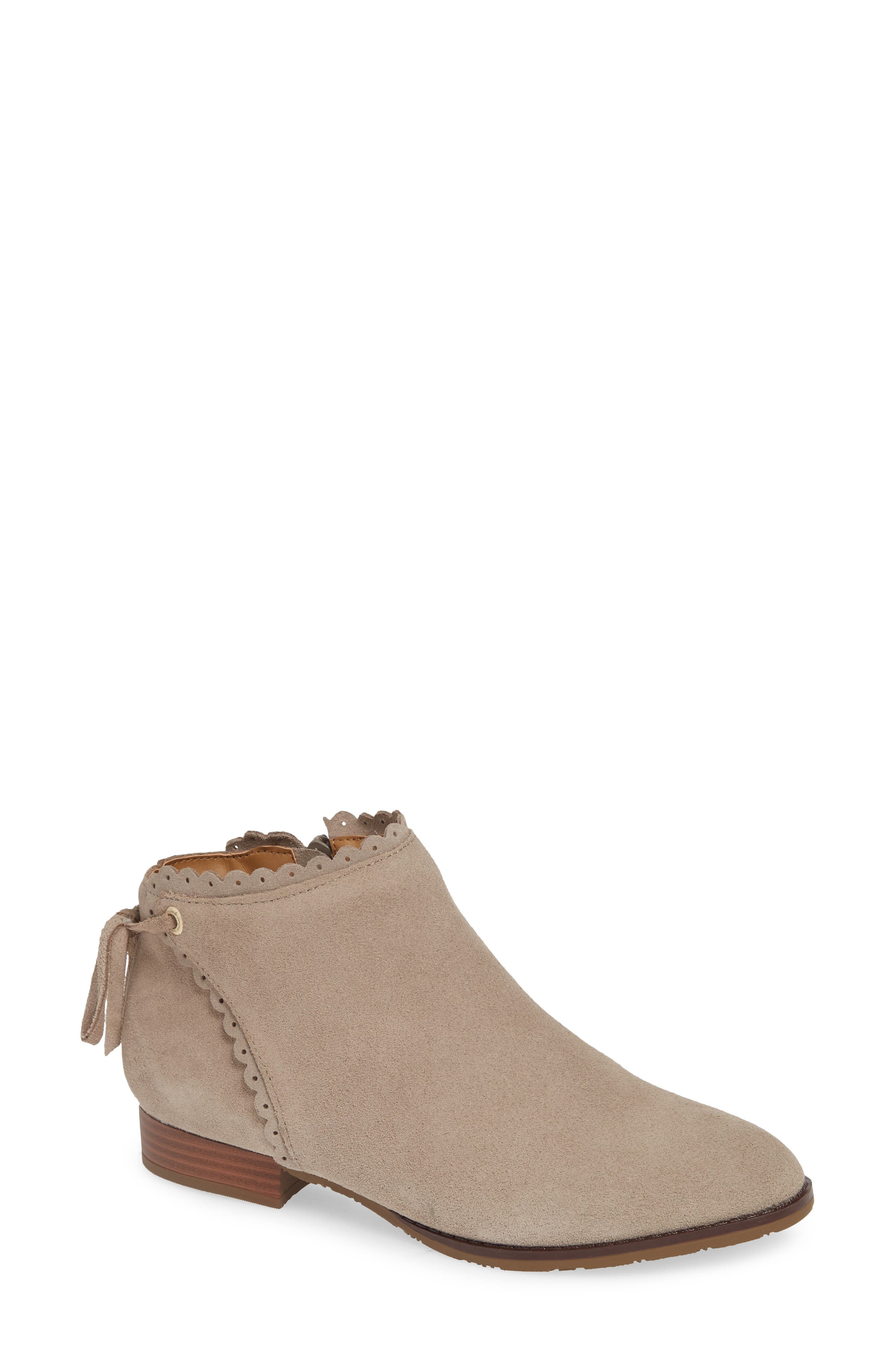 Jack Rogers Scalloped Ankle Bootie- Grey