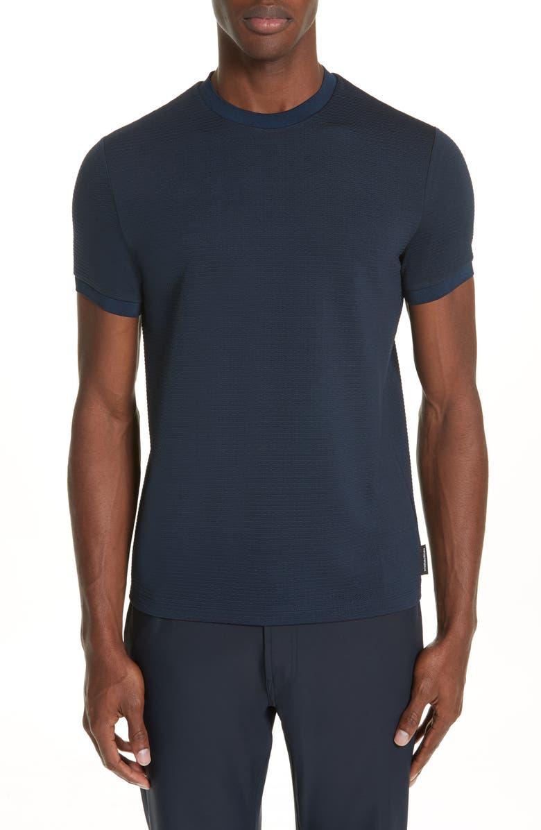 EMPORIO ARMANI Slim Fit Stretch Crewneck T-Shirt, Main, color, 414