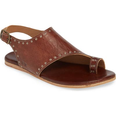 Bed Stu Misha Grommet Toe Loop Sandal- Brown